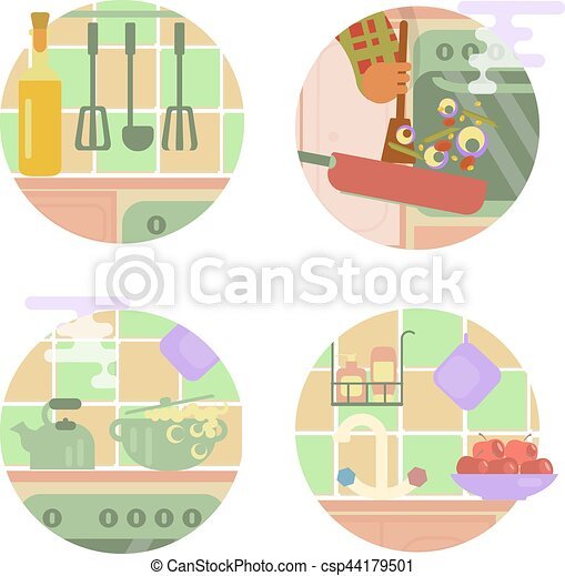 6cb246ed6f Set of cooking illustrations - csp44179501