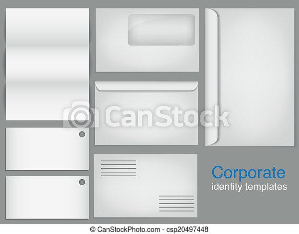 set of corporate identity templates - csp20497448