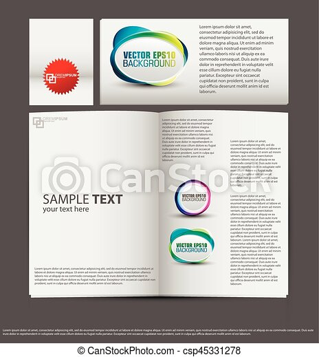 set of corporate identity templates vector illustration gradient mesh used - csp45331278