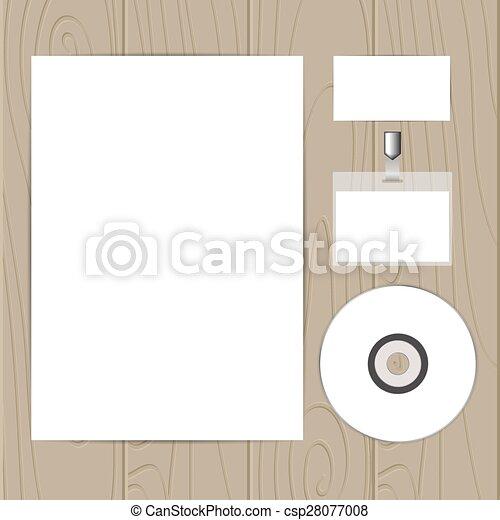 Set of corporate identity templates - csp28077008