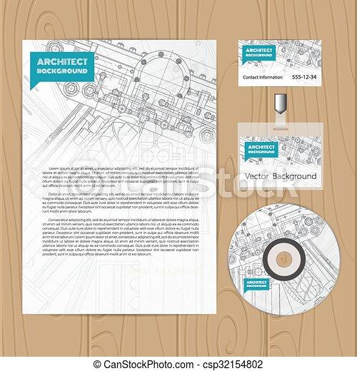 Set of corporate identity templates - csp32154802