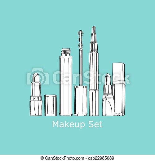 set of cosmetics - csp22985089