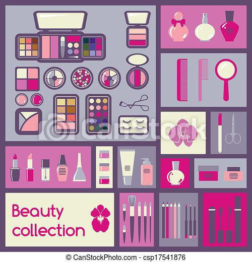 Set of cosmetics icons - csp17541876