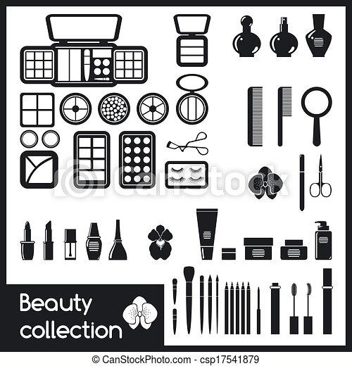 Set of cosmetics icons. - csp17541879