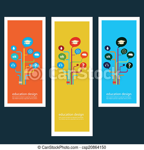 Set of creative design stickers with icons - csp20864150