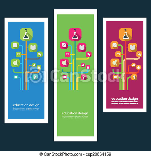 Set of creative design stickers with icons - csp20864159