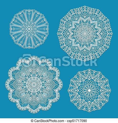 Set of crochet doilies - csp51717090