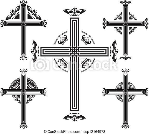 set of crosses - csp12164973