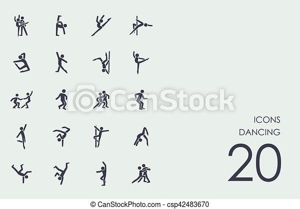 Set of dancing icons - csp42483670