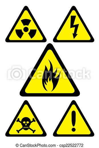 Set Of Danger Symbols
