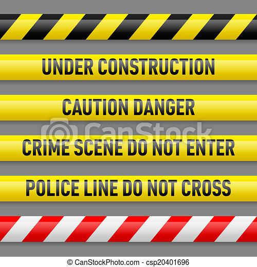 Set of danger tapes - csp20401696