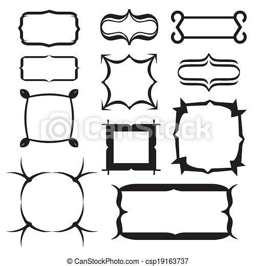 set of decorative frame. Vector illustration - csp19163737