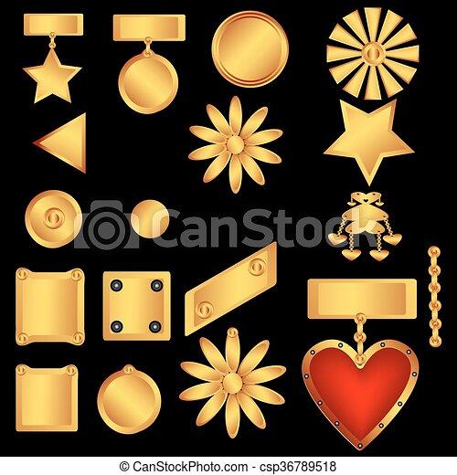 Set of decorative ornaments - csp36789518