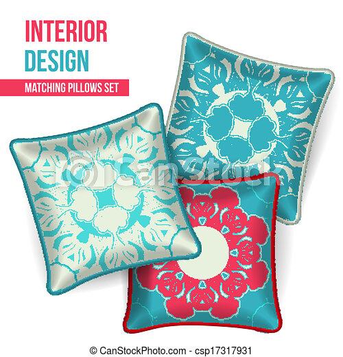 Set Of Decorative Pillow Set Of 40 Matching Decorative Pillows For Fascinating Oriental Decorative Pillows