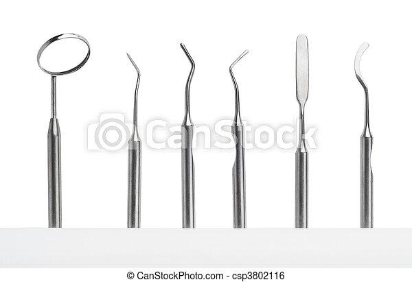 set of dental care instruments - csp3802116