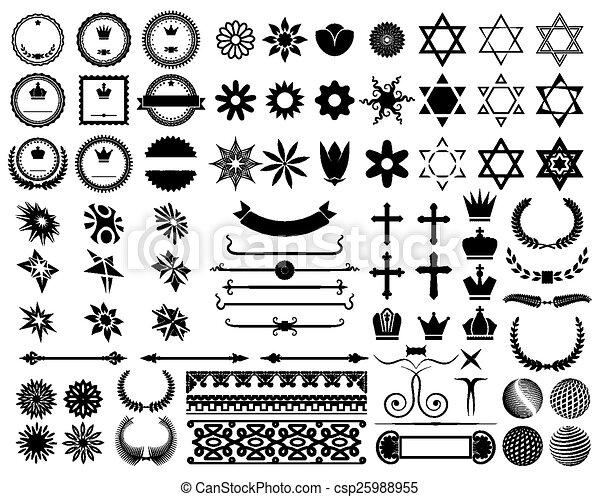 Set of design elements - csp25988955