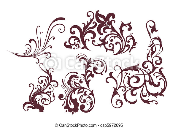 Set of design elements - csp5972695