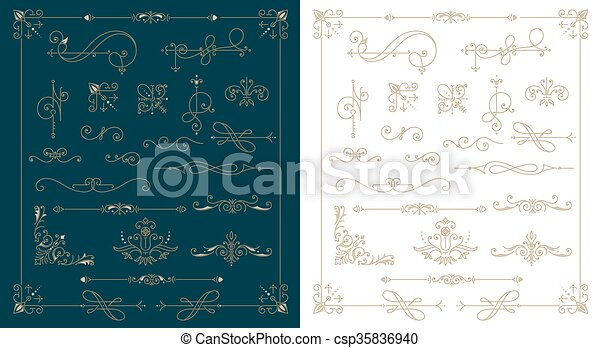 Set of design elements - csp35836940