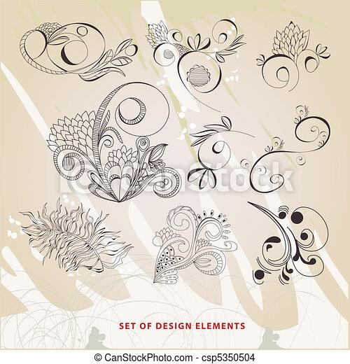 Set of design elements - csp5350504