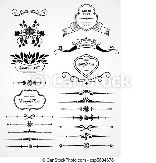 set of design elements  - csp5834678