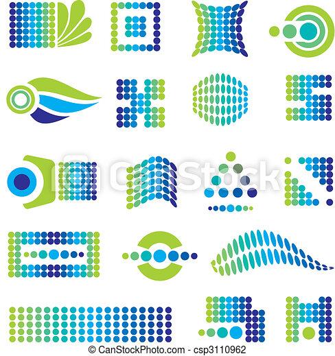 set of design elements - csp3110962