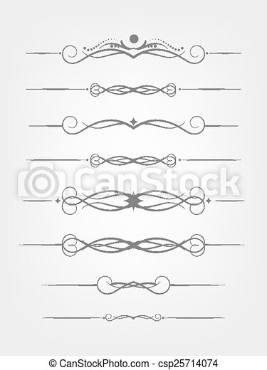 Set of design elements. - csp25714074