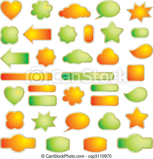 Set of design elements - csp3110970