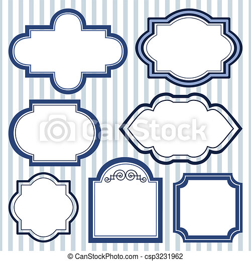 Set of design frames. Vector frames collection with space for your ...