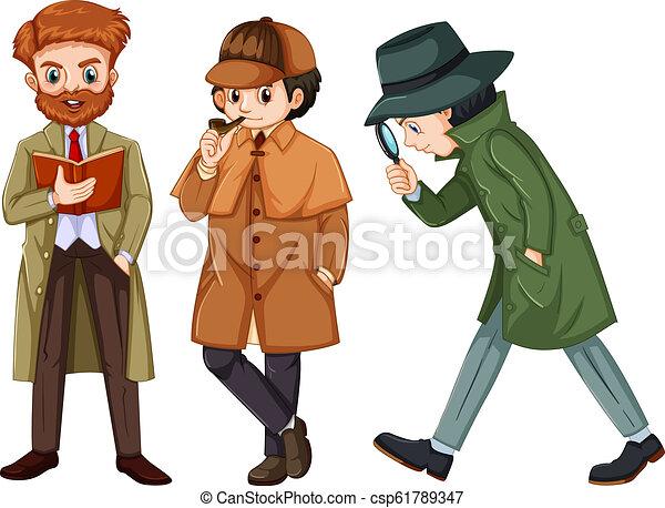 Set of detective character - csp61789347
