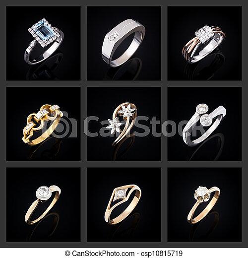 Set of diamond rings - csp10815719