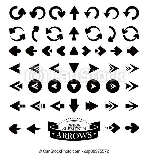 Set of different arrow icons - csp30375572