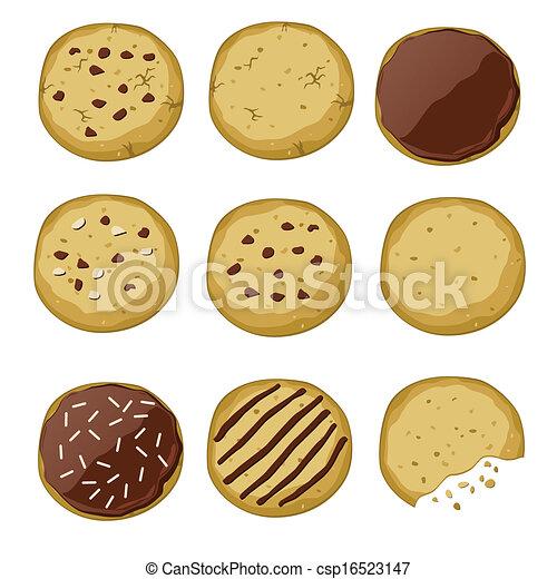 set of different cookies - csp16523147