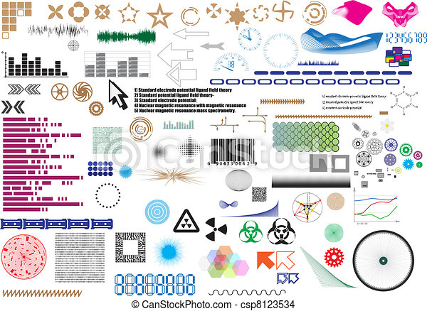 Set of different elements for design - csp8123534