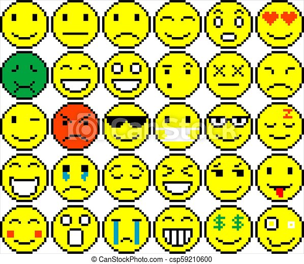 Set Of Different Emoticons