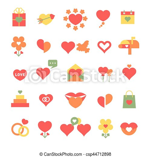Set Of Different Hearts Icons Huge Set Of Different Hearts Icons