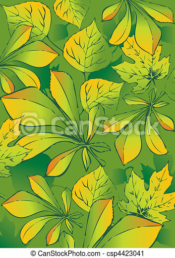 Set of different leaves. - csp4423041