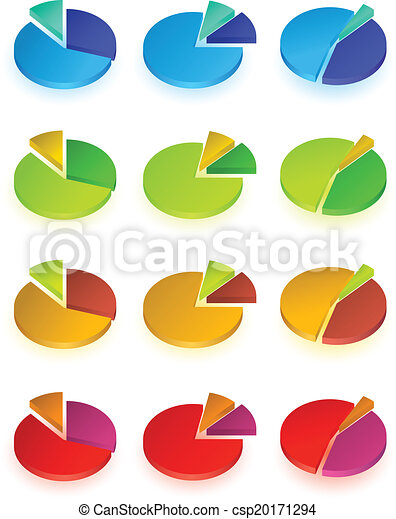 Set Of Different Pie Chart Eps10 Vector
