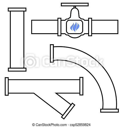 Set of Different Pipes - csp52859824