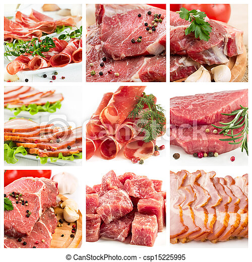 Set of different raw meat - csp15225995
