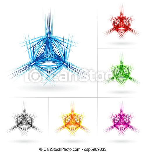 Set of different stars icons - csp5989333