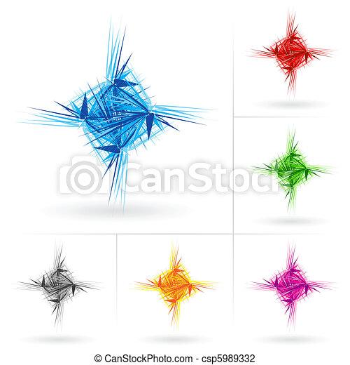 Set of different stars icons - csp5989332