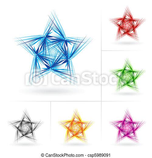 Set of different stars icons - csp5989091