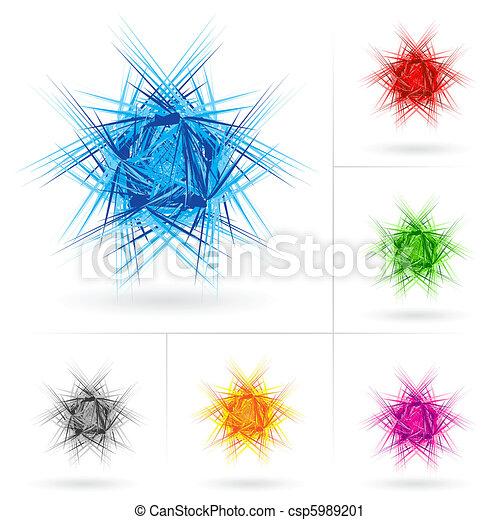 Set of different stars icons - csp5989201