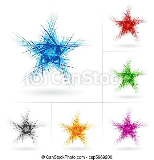 Set of different stars icons - csp5989200