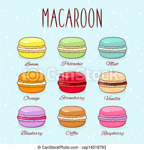 Set of different taste macaroons - csp14019793