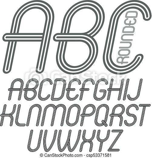 Set Of Disco Vector Upper Case English Alphabet Letters Abc Isolated Funky Italic Rounded Font Typescript For Use In Logo Design Made With Geometric