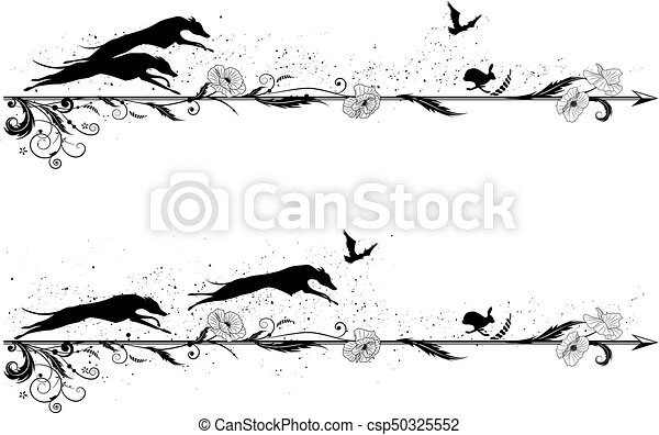 set of dividers with dogs - csp50325552