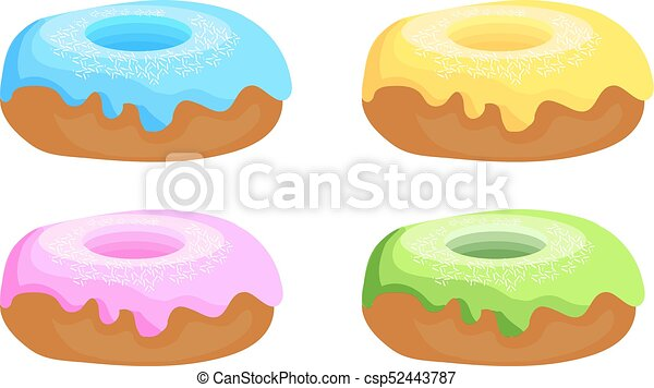 set of donuts hand drawn vintage doughnuts blue yellow vector rh canstockphoto com donut clipart images donuts images clip art