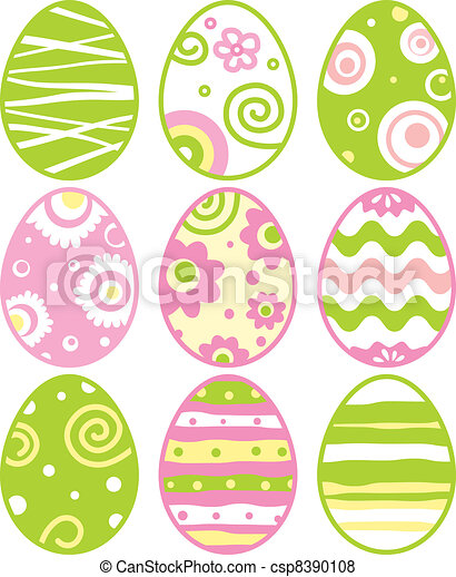 Set of easter eggs - csp8390108