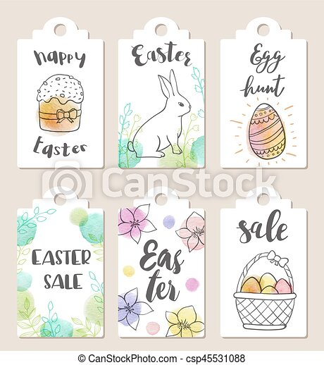Set of Easter tags - csp45531088